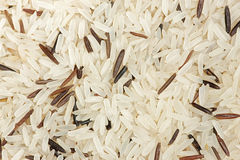 Background of brown rice (long grain) Royalty Free Stock Image