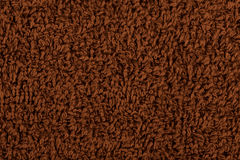 Background of brown terry towels Stock Photography