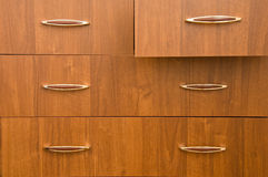 Wooden cabinet. Royalty Free Stock Photo