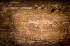 Wooden planks. A background of brown wooden planks Stock Photography