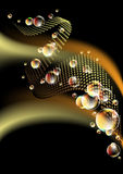Background with bubbles Royalty Free Stock Photos
