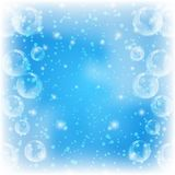 Background, bubbles on blue Royalty Free Stock Photography