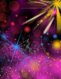 Background with bubbles and lights Stock Images