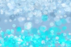 Background of bubbles and lights, bokeh effect. Elegant effect of bubbles and diffused lights in all turquoise, light blue and white, giving a delicate detail Stock Photo