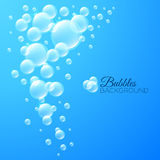 Background with bubbles under water Stock Photos