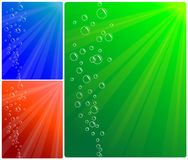 Background of bubbles and water Stock Photos