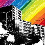 background building colorful vector Arkivfoton