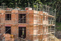 Background of building construction site. building under constructio Stock Images