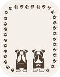 Background with bulldogs. Illustration of background with two dogs Stock Image