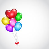 Background with bunch of colored balloons Royalty Free Stock Photography