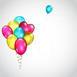 Background with bunch of colored balloons Stock Photo