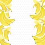 Background with bunches of bananas Royalty Free Stock Photo