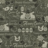Background with bunny, easter eggs, flower, chicks, hen  Stock Photography