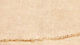 Background of burlap hessian sacking. Textile texture Stock Photo