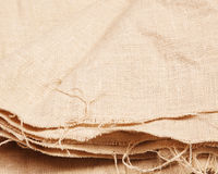 Background of burlap hessian sacking. Textile texture stock photography