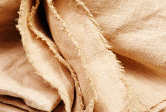 Background of burlap hessian sacking. Textile texture royalty free stock photography