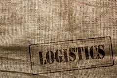 Background of burlap for packaging and further logistics Royalty Free Stock Photo