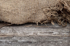 Background of burlap Stock Photography