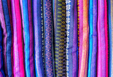 Background of Burmese silk 3 Stock Images