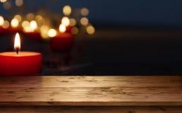 Background with burning candles Stock Image