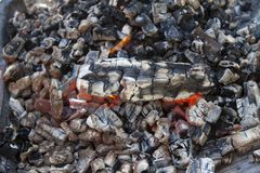 Background of the burning coals. Royalty Free Stock Image