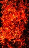 Background of burning coals Royalty Free Stock Photography