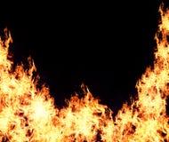 Background burning flame Royalty Free Stock Images