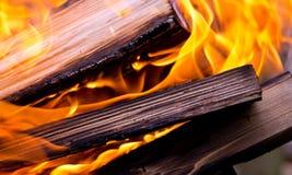 Background, burning logs Royalty Free Stock Image