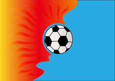 Background with burning soccer ball Royalty Free Stock Photography