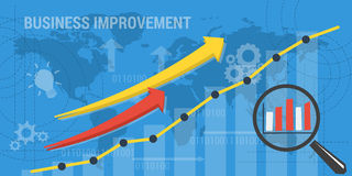Background BUSINESS IMPROVEMENT Royalty Free Stock Images
