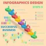 Background for Business.  Posters and Placards. Mobile Technologies Concept. Flat Style. Vector Templates .  Background for Business.  Posters and Placards Stock Image