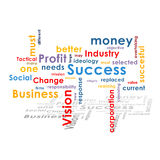 Background with business words. Text and shadow Royalty Free Stock Photos
