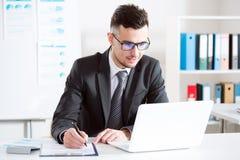 background businessman laptop over white working στοκ εικόνα με δικαίωμα ελεύθερης χρήσης