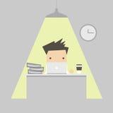 background businessman laptop over white working Στοκ Εικόνα