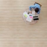 background businessman laptop over white working Στοκ Φωτογραφίες