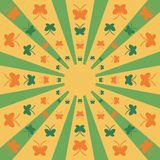 Background with butterflies. Background with butterfly on yellow and green Stock Images