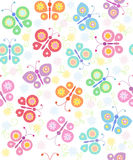 Background with butterflies Stock Photos