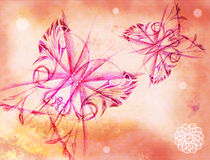 Background with the butterflies. Background with the drawn elements similar to butterflies stock illustration