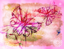 Background with the butterflies Royalty Free Stock Photos