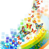 Background with butterflies Royalty Free Stock Images