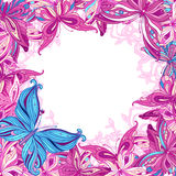 Background with butterflies Royalty Free Stock Photo