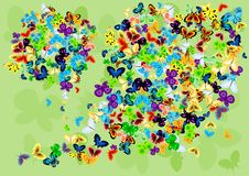 Background with butterflies. Vector image with butterflies Stock Photography