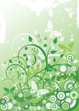 Background with butterflies. Green grunge background with butterflies stock illustration