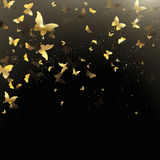 Background of butterflies confetti Stock Photography