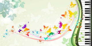 Background with butterflies Royalty Free Stock Image