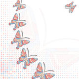 Background with butterflies. Vector geometric background with butterflies Royalty Free Stock Photo