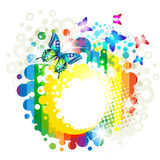 Background with butterfly Stock Photos