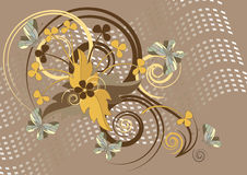 Background with butterfly. Background.Wallpaper. Royalty Free Stock Photo
