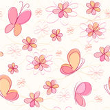 Background with butterfly and flowers. Background with pink butterfly and flowers Royalty Free Stock Photography