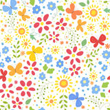 Background with butterfly. Background with flowers and butterfly Royalty Free Stock Image